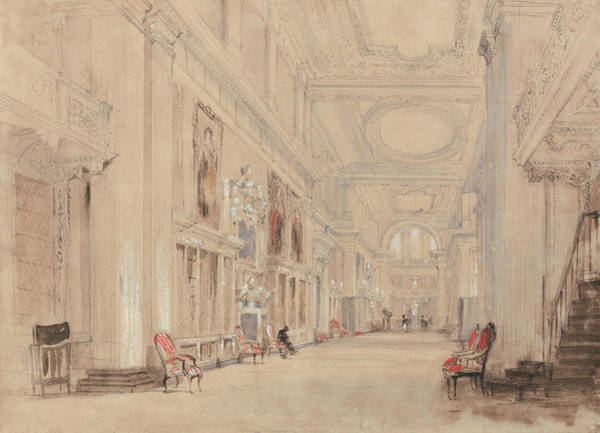 Painting - The Portrait Gallery, Hardwick Hall, Derbyshire by David Cox