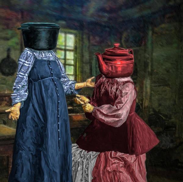 Digital Art - The Pot Calling The Kettle Black by Rick Mosher