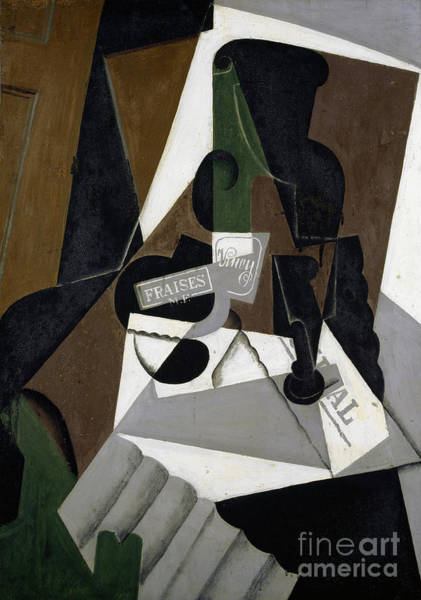 Wall Art - Painting - The Pot Of Strawberry Jam, 1917 by Juan Gris