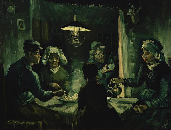 Potato Painting - The Potato Eaters by Vincent van Gogh