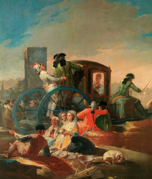 Metaphor Painting - The Crockery Vendor by Francisco Goya
