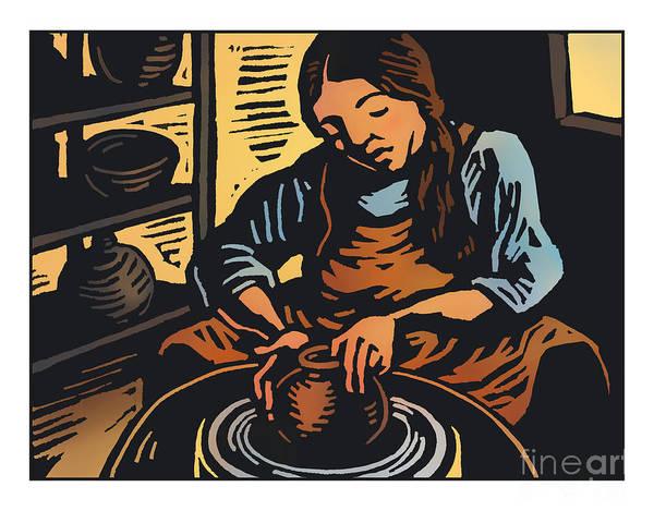 Painting - The Potter - Jlpot by Julie Lonneman