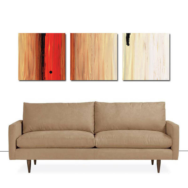 Painting - The Power Of One Triptych by Sharon Cummings