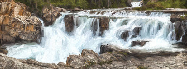 Digital Art - The Power Of The Falls IIi by Jon Glaser