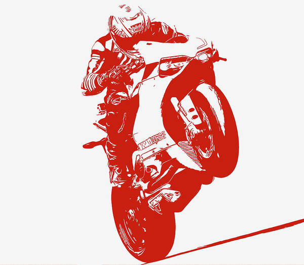 Digital Art - The Powerful Ducati Panigale 1299 by Andrea Mazzocchetti