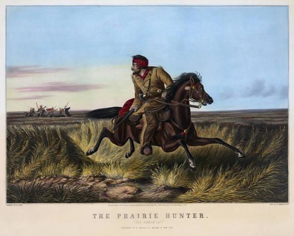 Life Or Death Photograph - The Prairie Hunter  1852 by Daniel Hagerman