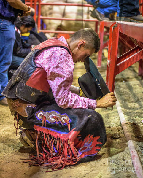 Prca Wall Art - Photograph - The Cowboy Prayer Before The Rodeo by Rene Triay Photography
