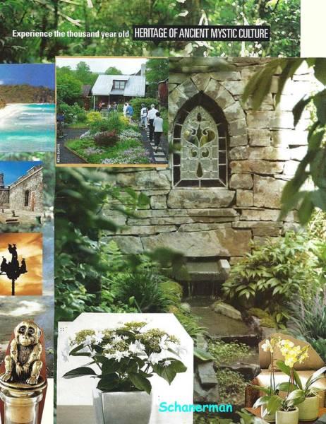 Mixed Media - The Prayerful Garden by Susan Schanerman