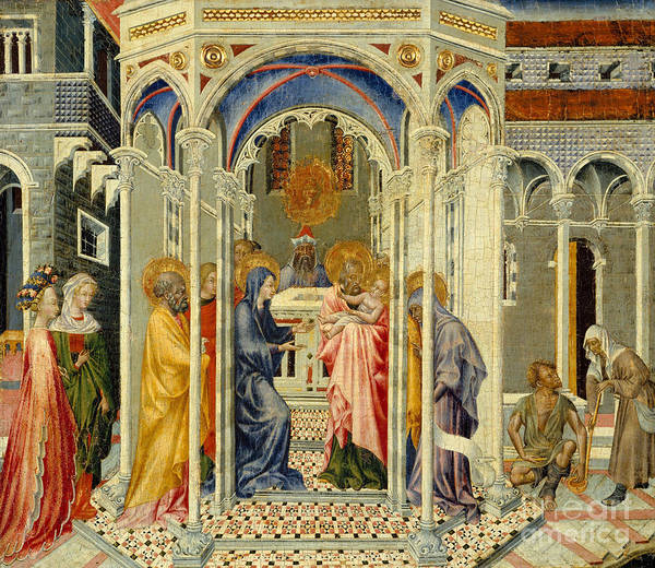 Mother Of God Painting - The Presentation Of Christ In The Temple by Giovanni di Paolo di Grazia