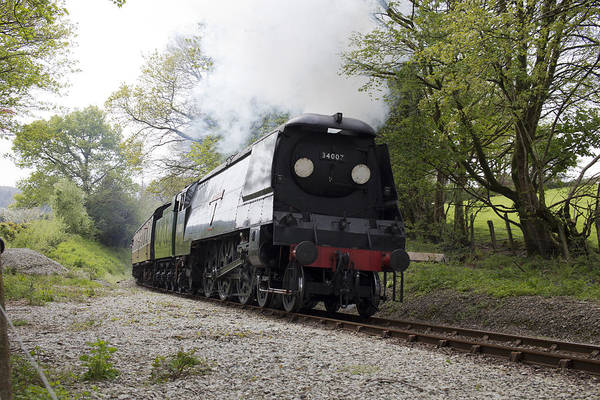 Photograph - The Preserved Steam Locomotive 34007 Wadebridge by Tony Mills