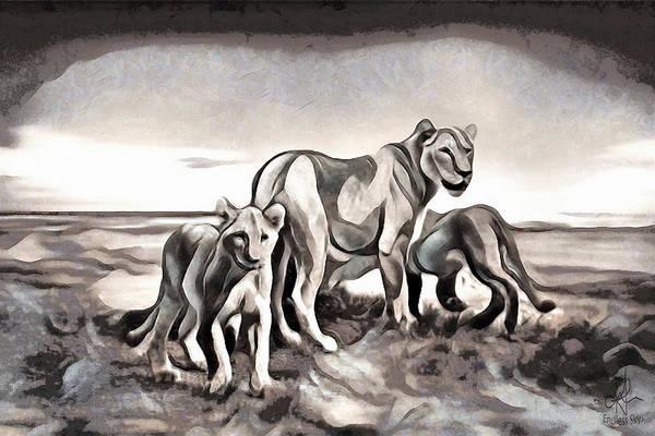 Digital Art - The Pride by Pennie McCracken