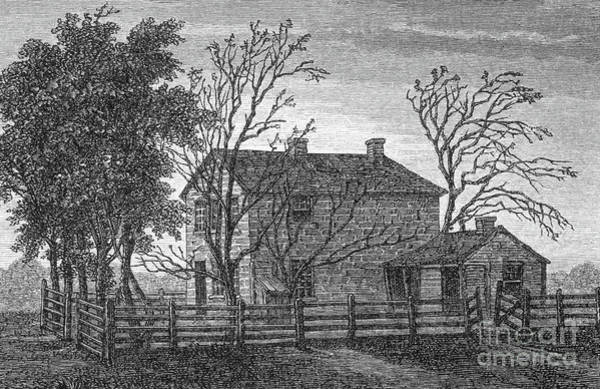 Wall Art - Drawing - The Prison In Carthage, Illinois, In Which The Mormon Prophet Joseph Smith And Hyrum Died by Spanish School