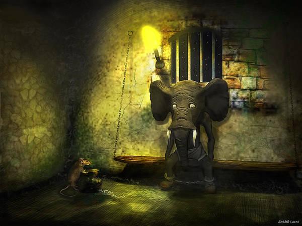 Ken Morris Digital Art - The Prisoner by Ken Morris