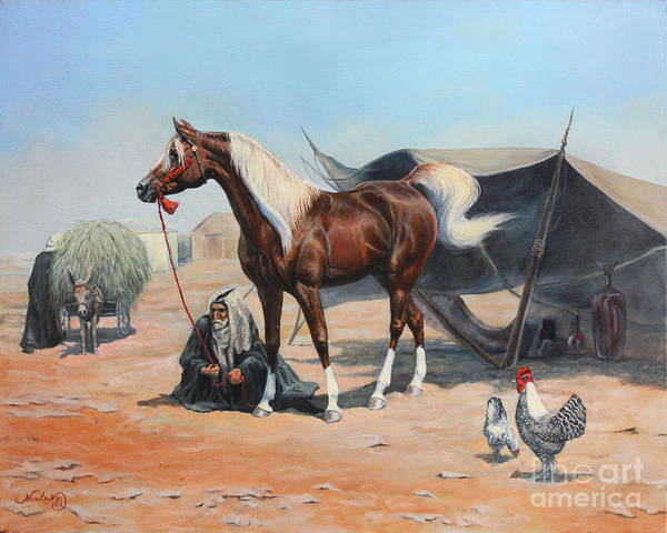 Arabians Painting - The Prize by Jeanne Newton Schoborg