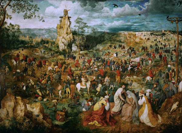 Renaissance Painters Wall Art - Painting - The Procession To Calvary by Pieter Bruegel the Elder