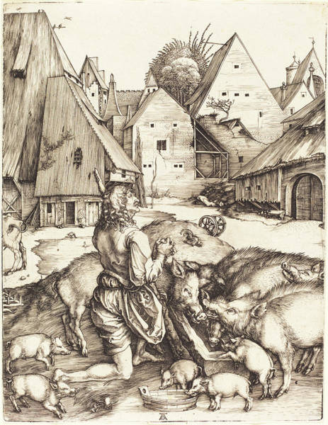Drawing - The Prodigal Son by Albrecht Durer