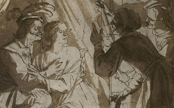Tender Moment Wall Art - Drawing - The Prodigal Son by Gerrit van Honthorst