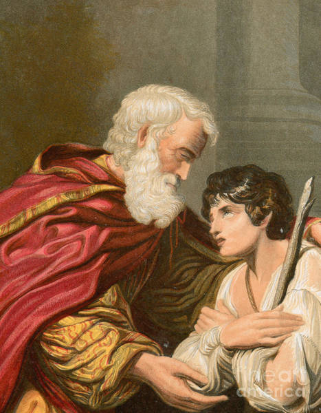 Tender Moment Wall Art - Painting - The Prodigal Son by Lionello Spada