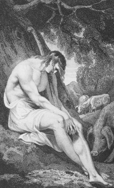 Woodland Drawing - The Prodigal Son by William Hopwood