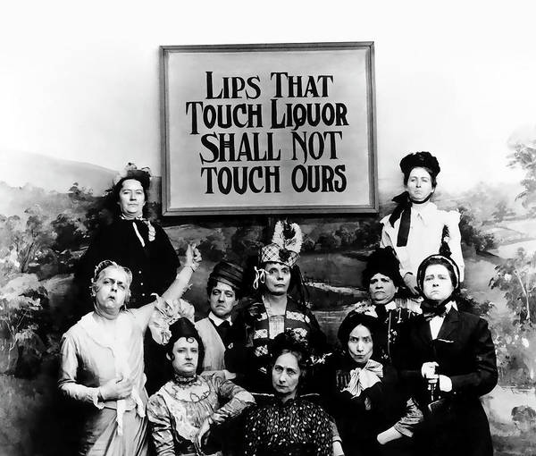 Booze Wall Art - Photograph - The Prohibition Temperance League 1920 by Daniel Hagerman
