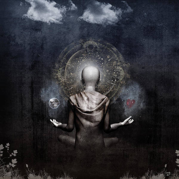 Meditation Digital Art - The Projection by Cameron Gray