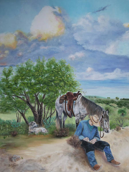 Boot Hill Painting - The Promise by Belinda Nagy