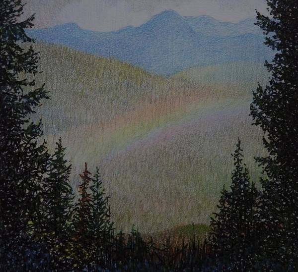 Mist Drawing - The Promise, Manning Provincial Park, B. C. by Catherine Robertson