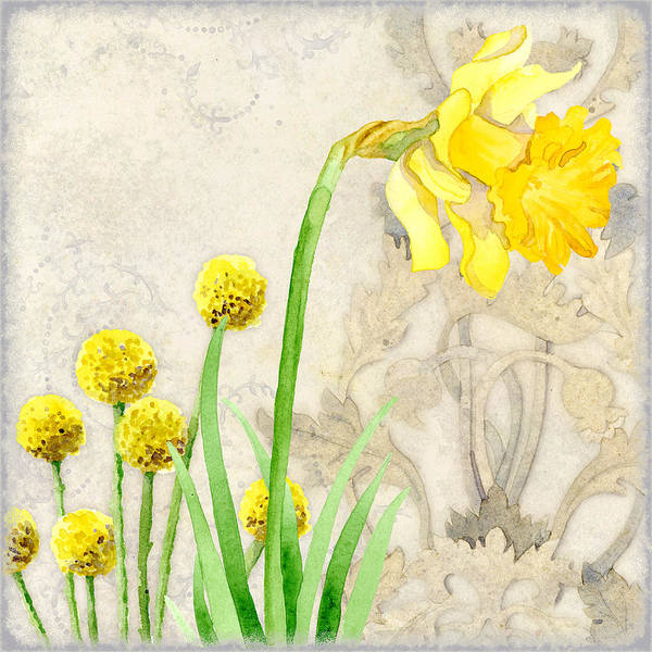 Daffodils Wall Art - Painting - The Promise Of Spring - Daffodil by Audrey Jeanne Roberts