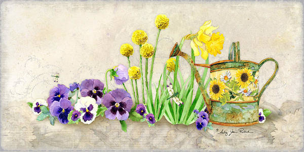 Wall Art - Painting - The Promise Of Spring - Pansy by Audrey Jeanne Roberts
