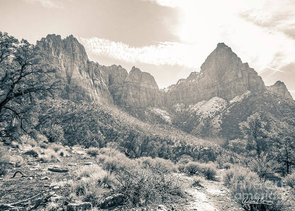 Photograph - The Promised Land, Black And White by Adam Morsa