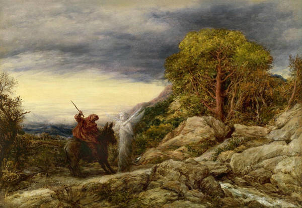 Painting - The Prophet Balaam And The Angel by John Linnell