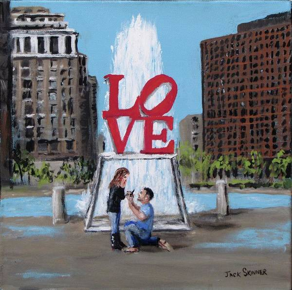 Wall Art - Painting - The Proposal by Jack Skinner