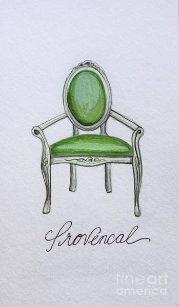 Painting - The Provencal Chair by Elizabeth Robinette Tyndall
