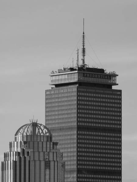Photograph - The Prudential In Black And White by Brian MacLean