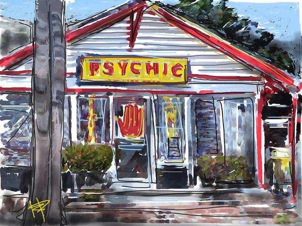 Seer Wall Art - Digital Art - The Psychic by Russell Pierce