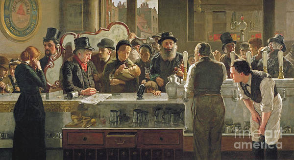 Decor Wall Art - Painting - The Public Bar by John Henry Henshall