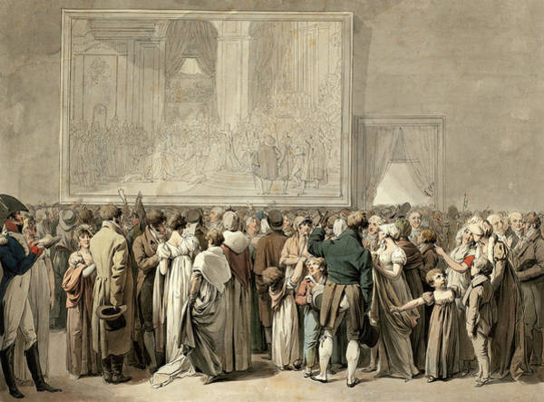 Painting - The Public In The Salon Of The Louvre by Louis-Leopold Boilly