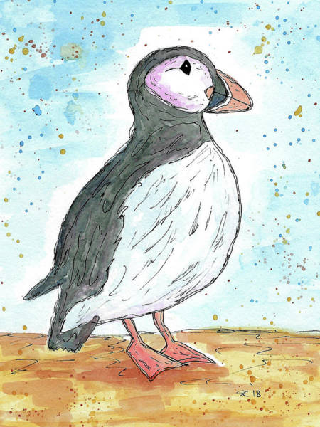 Painting - The Puffin by Susan Campbell