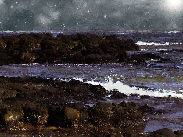 Painting - The Pull Of The Moon by RC DeWinter