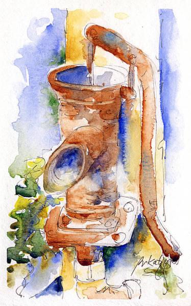 Painting - The Pump At Mas St Antoine by Pat Katz