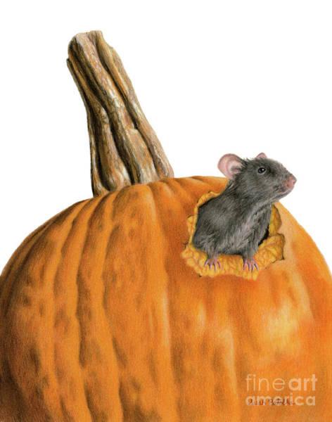 Macro Painting - The Pumpkin Carver by Sarah Batalka