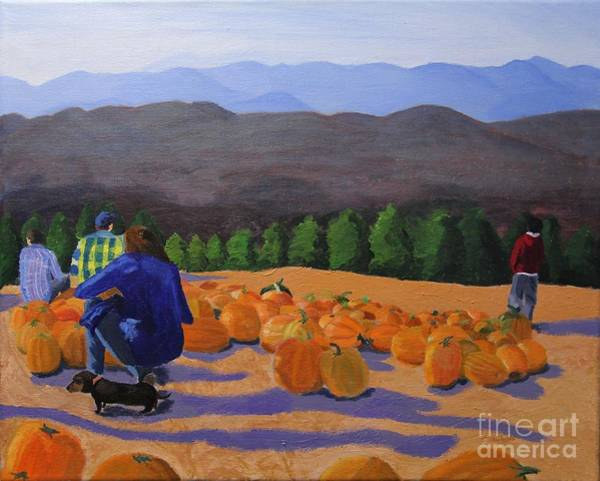 Winter Squash Painting - The Pumpkin Patch by Marina McLain