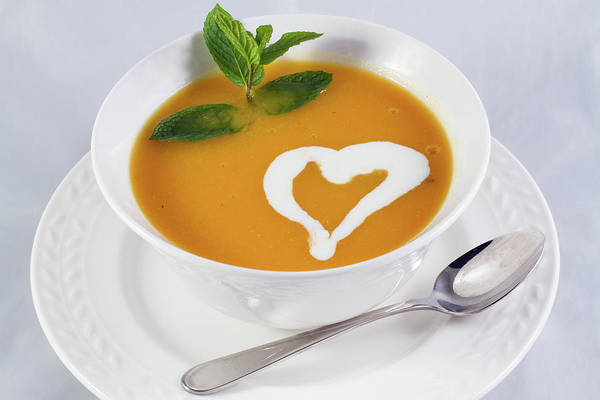 Wall Art - Photograph - The Pumpkin Soup With Heart by William Freebilly photography