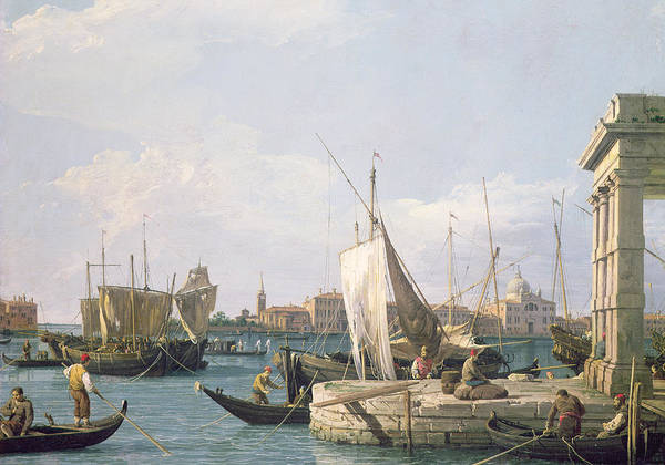 Trader Painting - The Punta Della Dogana by Canaletto