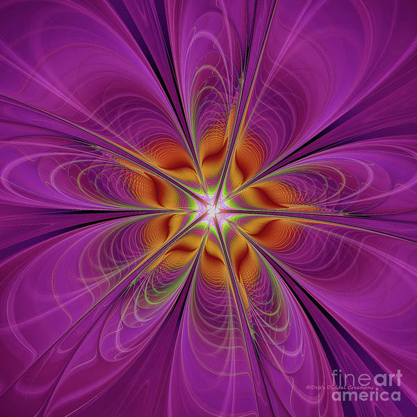 Digital Art - The Purple Bomb by Deborah Benoit