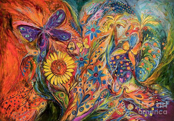Kaballah Wall Art - Painting - The Purple Butterfly Of Yotvata by Elena Kotliarker