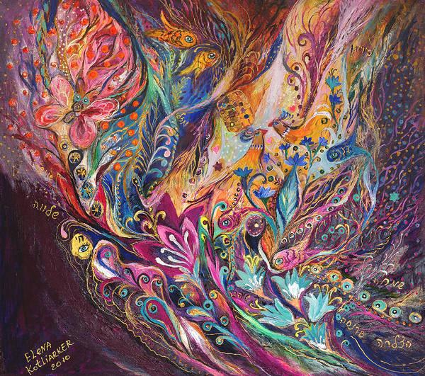 Wall Art - Painting - The Purple Stream by Elena Kotliarker