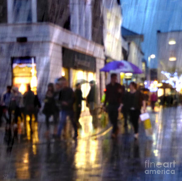 Photograph - The Purple Umbrella by LemonArt Photography