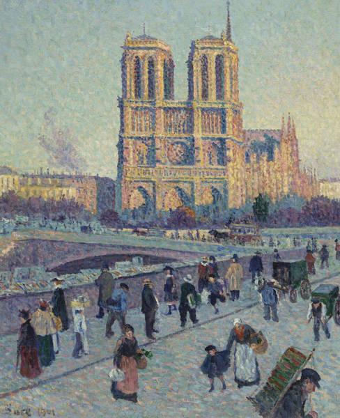 French Painter Wall Art - Painting - The Quai Saint-michel And Notre-dame by Maximilien Luce