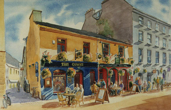 Pub Painting - The Quays Pub Galway by Tomas OMaoldomhnaigh